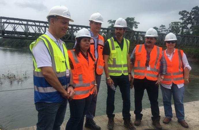 Costa Rica y Panamá afinan detalles para arrancar con la construcción del puente Binacional sobre el río Sixaola