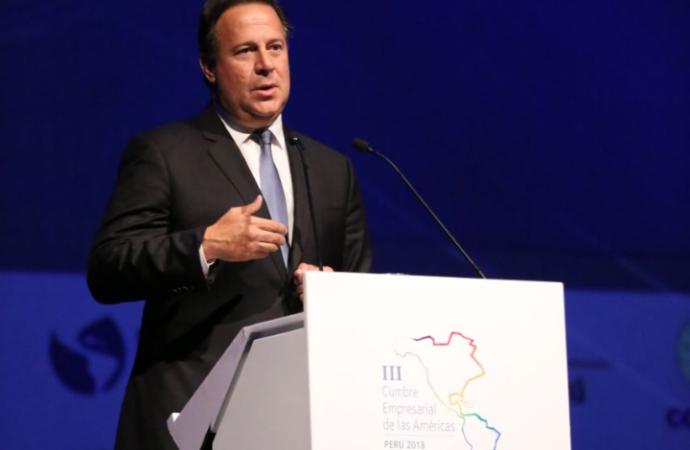 Presidente Varela destaca desarrollo en infraestructura inclusiva de Panamá durante III Cumbre Empresarial de las Américas