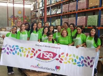 Multivoluntarios acompañan acciones de la Fundación Banco de alimentos Panamá
