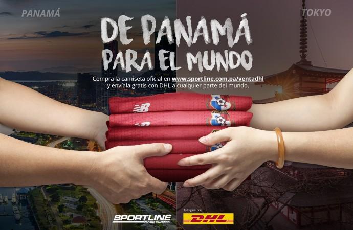 Sportline America y DHL llevan la Camiseta de la Selección Panameña de Fútbol alrededor del mundo
