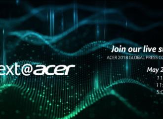 next@acer se llevará a cabo el 23 de mayo en New York y podrá ser vista en vivo a través de su canal de Youtube