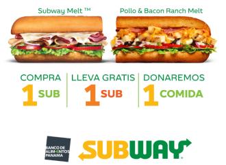 Subway presenta 2×1 a beneficio del Banco de Alimentos Panamá