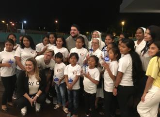 Una tarde para el Hogar Nuestra Señora de la Merced, 17 niñas panameñas sonriéndole al futuro