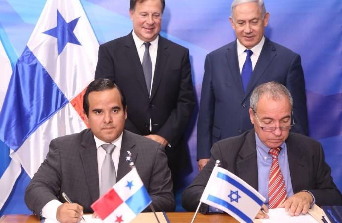 Presidente Varela y Primer Ministro Netanyahu fortalecen su agenda bilateral y son testigos de la firma de un TLC y Memorándum de entendimiento agropecuario