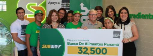 Subway® Panamá recauda 32,500 platos de comida a beneficio del Banco de Alimentos Panamá