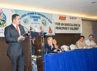Resaltan aportes del Mitradel al fortalecimiento de la libertad sindical en Congreso de la CGTP