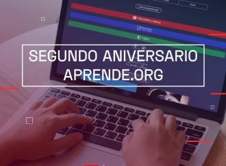 Aprende.org celebra su segundo aniversario con más de 18.7 millones de usuarios
