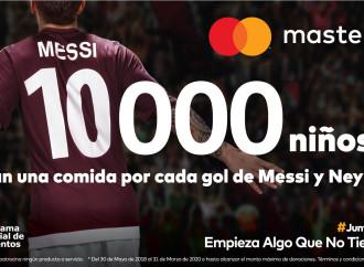Goles que Cambian Vidas: Mastercard donará 10 mil comidas por cada gol de Messi y/o Neymar Jr.