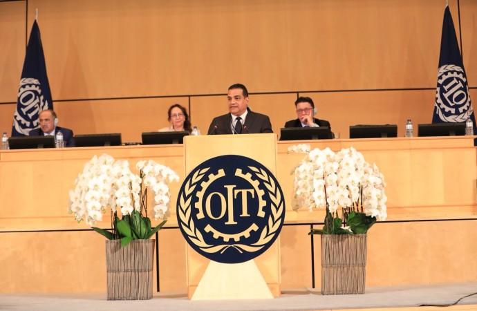Ministro Carles defiende ante la OIT el empoderamiento laboral femenino, en el marco de la plenaria 107ª Conferencia Internacional del Trabajo