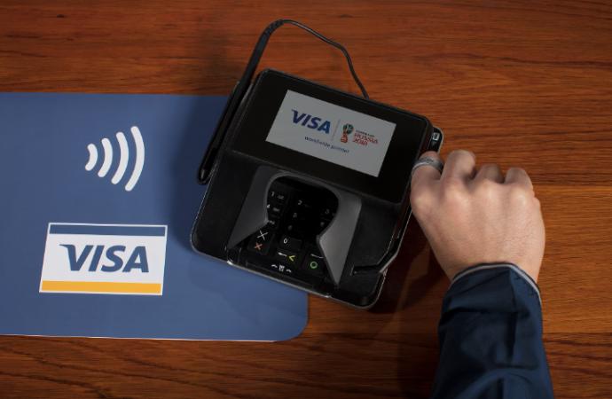 Datos de Visa revelan que una quinta parte de las compras en la Copa Mundial de la FIFA 2018TM usan tecnología de pagos sin contacto