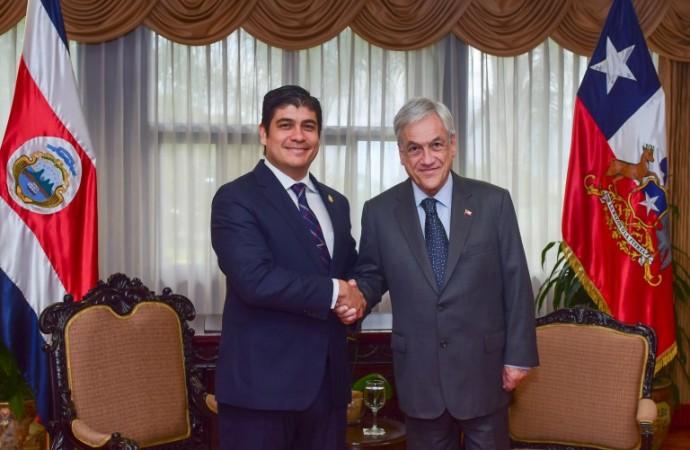 Costa Rica y Chile suscriben acuerdos para abordar desafíos políticos y democráticos de la región