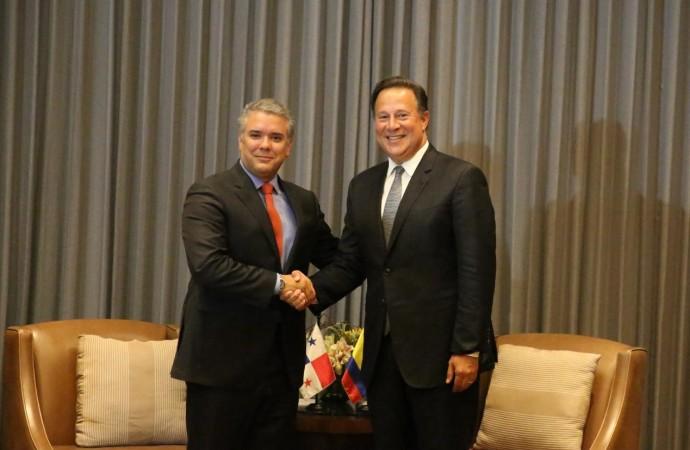 Mandatario Varela se reúne con presidente electo de Colombia y dialogan sobre seguridad, comercio y turismo