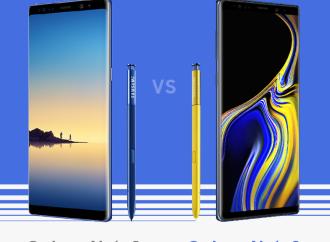 El Galaxy Note9 vs el Galaxy Note8 (Infografía)