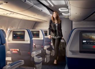 Delta equipa la aeronave número 600 con pantallas en los asientos