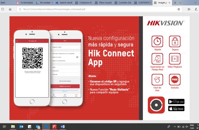 Hik-Connect la APP de Hikvision para visualizar y administrar desde dispositivos móviles los sistemas de seguridad de manera rápida, segura y eficaz
