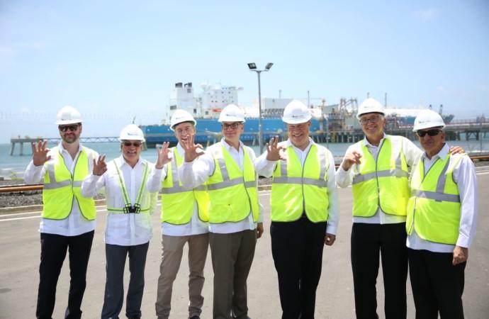 Presidente Varela inaugura en Colón la primera planta de gas natural de Centroamérica