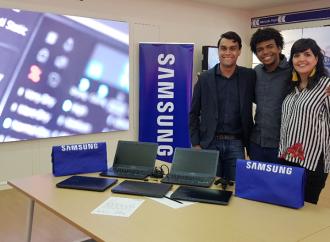 Samsung apoya a Ayudinga donando equipos