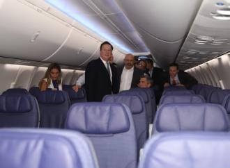 Presidente Varela participa en la presentación del primer avión Boeing 737 MAX 9 de la empresa Copa Airlines