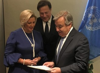Primera Dama entrega a António Guterres documento que pide a las Naciones Unidas redoblar esfuerzos para garantizar los derechos de los niños