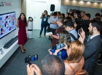 La líneaLG ThinQ con IA destacó de manera prominente en el Innofest de Latinoamérica 2018