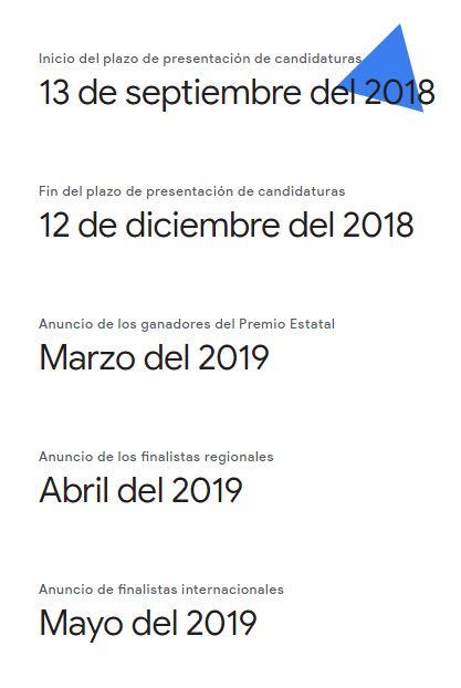 Calendario - Google Science Fair