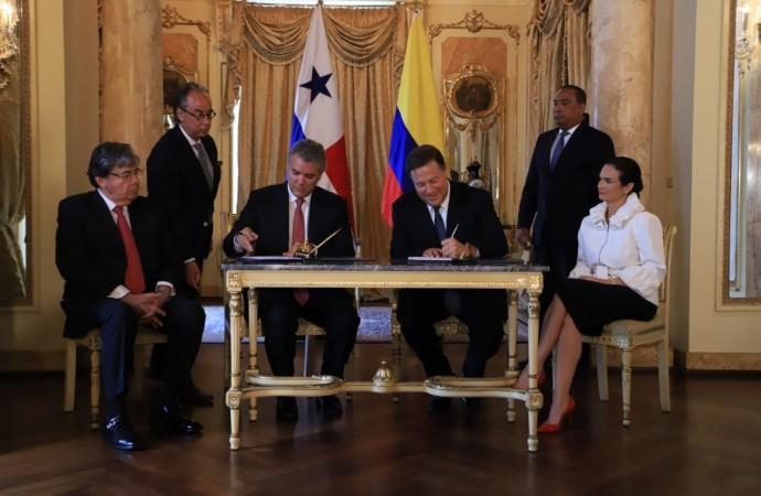Presidentes Varela y Duque acuerdan acciones ante retos comunes de Panamá y Colombia