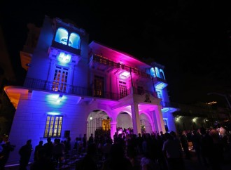 Encendido de luces en el Palacio Presidencial da inicio a la campaña de prevención del cáncer de mama y próstata