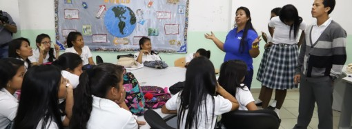 Despacho de la Primera Dama con el apoyo de HIAS y ACNUR desarrollan taller de prevención del acoso escolar