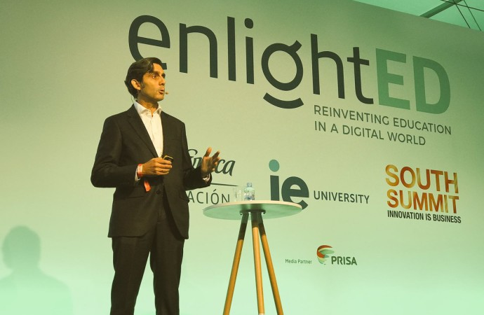 "Presidente de Telefónica inauguró ""enlightED"", en el marco de South Summit 2018"