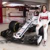Tatiana Calderón, piloto de pruebas de Alfa Romeo Sauber F1 Team, conducirá el C37 durante un evento promocional en la Ciudad de México