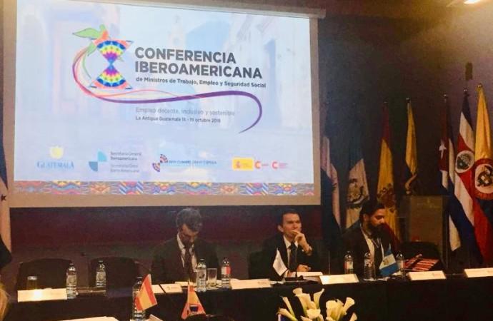 Viceministra de Trabajo participa en X Conferencia Iberoamericana de Ministros de Trabajo, Empleo y Seguridad Social en Guatemala
