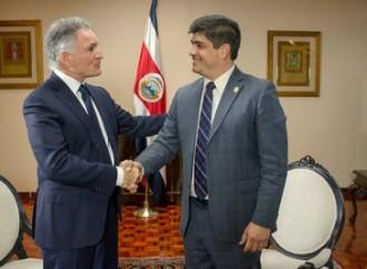 Dionisio Gutiérrez se reúne con Carlos Alvarado, Presidente de Costa Rica