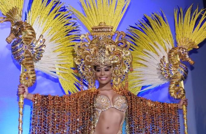 Miss Supranational Panamá rinde honor al Canal con su traje de fantasía