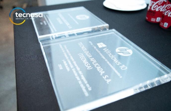 TECNASA recibe el Premio Platinum Partner 2018 de la mano de HP Inc.