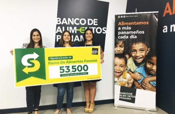 Fundación Banco de Alimentos Panamá recibe donativo por parte de Subway Panamá equivalente a 53,500 porciones de comida