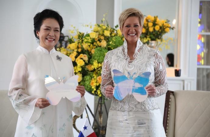 Primera Dama de la República Popular China se suma al movimiento Cero Discriminación liderado por su homóloga de Panamá