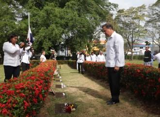 Presidente Varela resalta valores de entrega, determinación y amor por la Patria de los mártires del 9 de enero