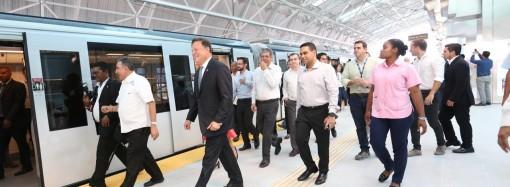 Presidente Varela realizó recorrido por las cinco estaciones de la Línea 2 del Metro, que estarán abiertas parcial y temporalmente para la Jornada Mundial de la Juventud