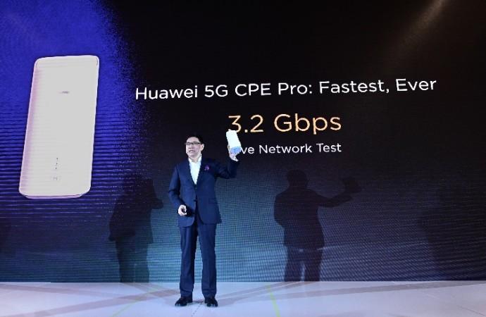 HUAWEI presenta Chipset Multimodo y el Dispositivo 5G CPE Pro