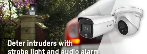 Nuevas cámaras de red AcuSense de Hikvision, con luz estroboscópica y alarma para disuadir a intrusos al instante