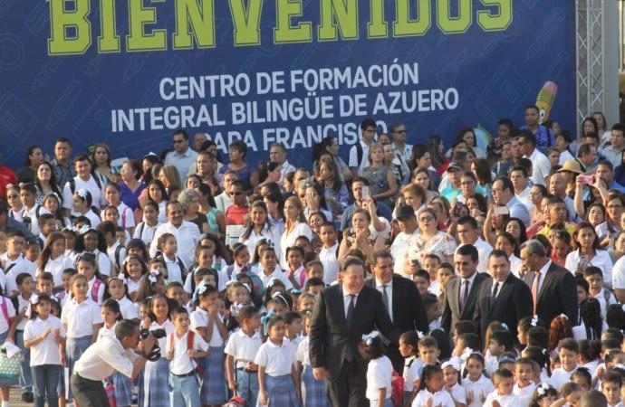 Gobierno entrega primera etapa del Centro de Formación Integral Bilingüe de Azuero Papa Francisco