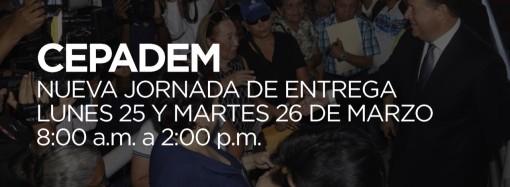 Gobierno del presidente Juan Carlos Varela realiza decimoquinta entrega masiva de CEPADEM