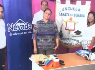 Productos Nevada promueve el bienestar de 350 estudiantes de la Escuela La Mata, en Bugaba