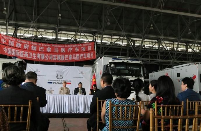 Despacho de Primera Dama recibe donación de tres Clínicas Móviles y equipos médicos por parte de la República Popular China