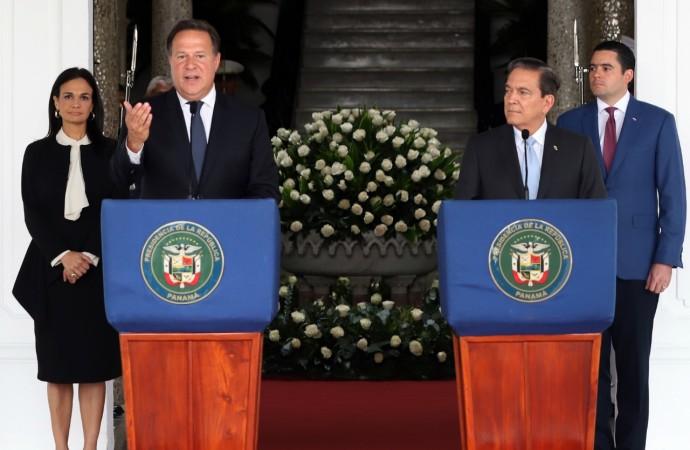 Presidente Varela y presidente electo Cortizo califican como positiva primera reunión de transición