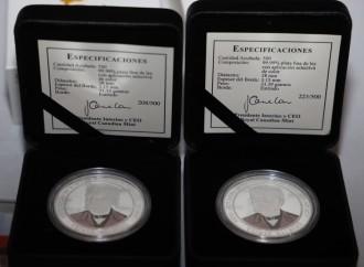 Presentan monedas acuñadas en conmemoración al natalicio de Don Justo Arosemena