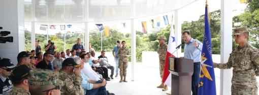 Presidente Varela inaugura la nueva Base Táctica de Guázaro
