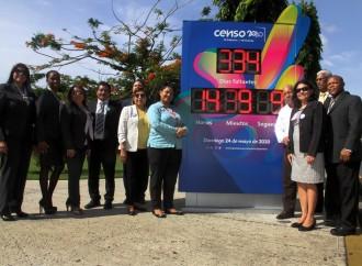Contraloría devela Reloj con cuenta regresiva de Censo 2020