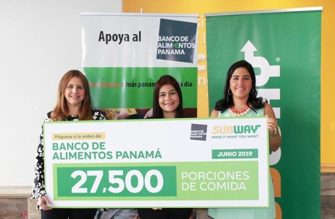 SUBWAY logra 27,500 porciones de comida para la Fundación Banco de Alimentos Panamá