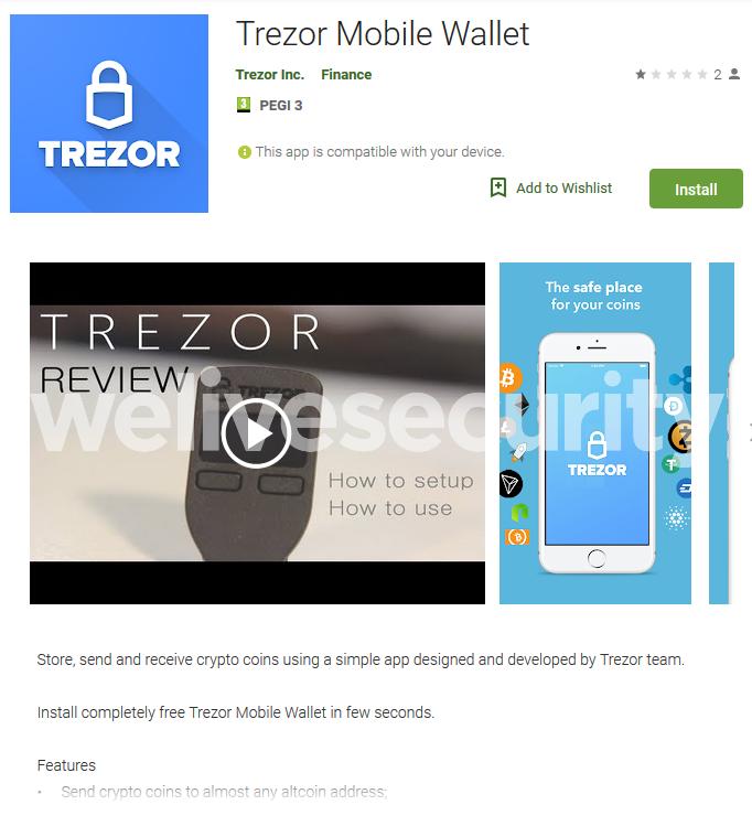 Trezor Mobile